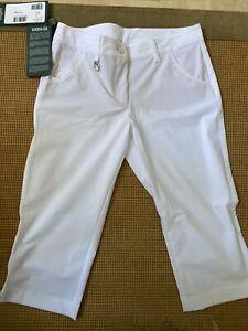 NWT Chervo Ladies Sound Golf Capri 63015 100 White Sz 6 ITA 42