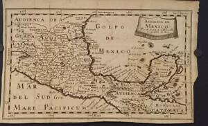 MEXICO CENTRAL AMERICA 1705 NICOLAS SANSON ANTIQUE ORIGINAL COPPER ENGRAVED MAP