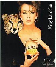 Publicité Advertising 1984 Parfum J'ai Osé de Guy Laroche