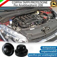 COPPIA TAPPO COPRIFARO CUFFIA IN GOMMA PEUGEOT 208 ANABBAGLIANTI PER LED E XENO