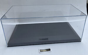 Display Case 1:18th scale clear top black base for 1:18 road & race model cars