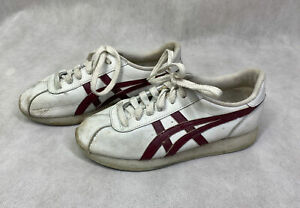 Vintage Asics Cheerleading & Danzteam Shoes Womens 5.5 White & Maroon Sneaker