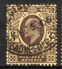 Great Britain Scotts #132 3p dull purple on yellow Used VF