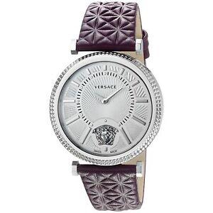 Versace VQG010015 Women's V-HELIX Silver-Tone Quartz Watch