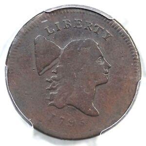 1795 C-6b R-6 PCGS VG 10 Pl Edge No Pole Liberty Cap Half Cent Coin 1/2c