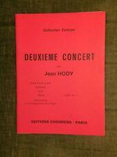 Jean Hody Deuxième concert flûtes a bec et clavier partition livret n°5 Choudens