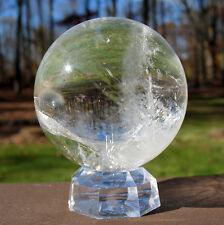 "Quartz Sphere / Crystal Ball ~ 2 1/4"" Diameter"