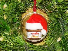 Weihnachtsbaumkugel 8 cm Nutella 25 gr. Nutellaglas Miniglas Christbaumschmuck