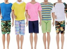 5 Sets Doll Outfit Fashion Summer T-shirt Pants Casual Wear Clothes Accessories