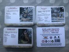 Paquete de tarjeta de perfil de Elfos y Enanos El Hobbit Señor de los anillos gw 2020 Nuevo