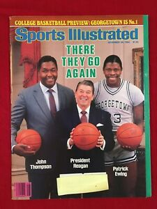 Sports Illustrated Nov 26 1984, Patrick Ewing, John Thompson, Ronald Reagan