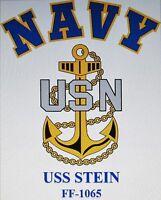 USS STEIN   FF-1065* FRIGATE* U.S NAVY W/ ANCHOR* SHIRT