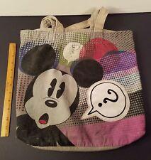 Mickey Mouse Tote Purse Handbag pocket Polka Dots Question Marks Funky Disney