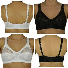 Ladies Womens Marlon White or Black Lace Soft Cup Firm Control Non Padded Bra