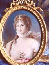 MINIATURA BIEDERMEIR RITRATTO DI SPLENDIDA E NOBILE DAMA,  CIRCA 1820
