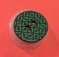 Geometric Etch BUTTONS x 5 Green & Black 22mm John Lewis 2 hole RRP £11 PREMIUM