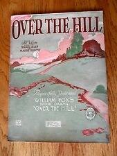 Over The Hill Wohlman Artwork Piano Vocal Sheet Music 1921 Klein Allen