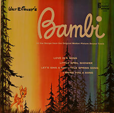 "East - SOUNDTRACK - Bambi - Frank Churchill and Ed Plumb 12 "" LP (n164)"