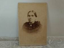 cabinet card photo people hollow faced woman deep set eyes  Cleveland Ohio