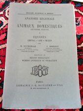 Montané & Bourdelle Anatomie régionale animaux domestiques EQUIDES livre III