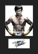 MANNY PACQUIAO - Signed Photo A5 Mounted Print - FREE DELIVERY