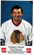 1990-91 Chicago Blackhawks Postcards Coke #28 Vladislav Tretiak