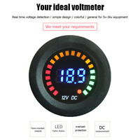 5-36V LED Digital Color Display Voltmeter Voltage Panel Meter for Car Motorcycle