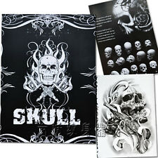 76 Side A4 Size Fashion Skull Skeleton Tattoo Body Art Flash Sketch Book Supply