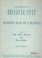Mancini, Sonata No. 8 in G minor for Alto (Treble) Recorder and Basso Continuo