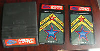 Vintage 1979 Intellivision Armor Battle Video Game Cartridge with Overlays
