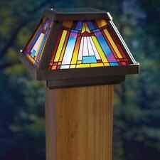 Post Cap Lamp Solar Powered Led Light Outdoor Fence Deck Lighting Garden Decor