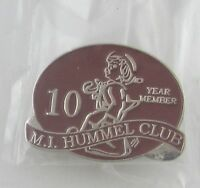 Hummel Club Pin 10 Year Anniversary Member Goebel