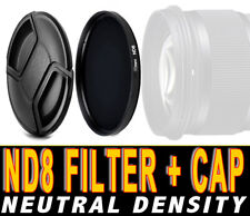 FILTRO NEUTRAL DENSITY ND8 FILTER NEUTRO ADATTO A Canon EF 28mm f1.8 USM 58M ND
