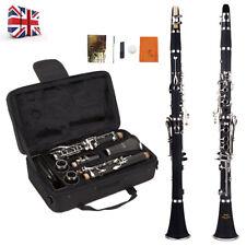 Black Clarinet Bb Student Beginner Professional School Band With CASE Kit UK