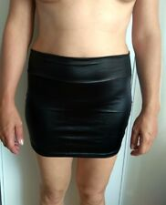Jupe crayon courte sexy elegante noire 36-38 faux cuir