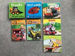 Baby Toddler Book Bundle In Baby Bright, Bob The Builder, Thomas the Tank Engine