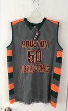 5591f3386b1 Houston Hurricanes Flag Football Adult Sleeveless Grey Jersey Size Small
