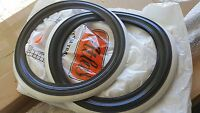 """VW MAGGIOLINO BEETLE KARMANN FASCE BIANCHE NERE 15"""" WHITE/BLK WALL TIRE INSERTS"""