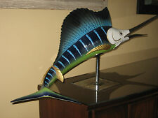 FEW MADE MANGANI  3+ ft LONG PORCELAIN SAILFISH FLORENCE ITALY 24KT OGGETTI