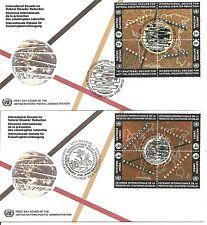 UN / NY SC # 650a/ Geneva 254a Natural Disaster Reduction FDC.BLK4