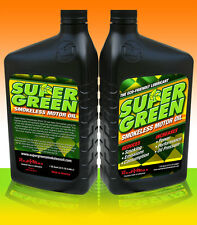 SuperGreen Smokeless Motor Oil (4 Quarts a one gallon container)