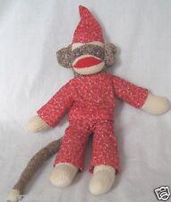 Handmade Sock Monkey 16 Inch Plush Stuffed Animal Flannel Outfit