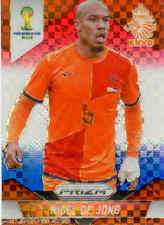 2014 World Cup Prizm Red White Blue Plaid Parallel No.31 N.D.JONG (NETHERLANDS)