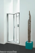 CORAM OPTIMA BI-FOLD SHOWER DOORS 800MM PLAIN / CHROME