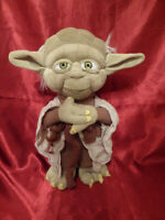 "STAR WARS Authentic Disney Store YODA PLUSH TOY Approx 12"" Empire Strikes Back"