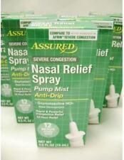5 - NASAL RELIEF SPRAY Assured .5oz Pump Mist Anti-Drip SEVERE Congestion