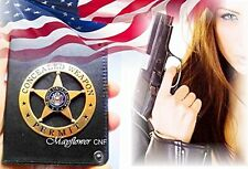 Special Antique Gold Star in Round Concealed Weapon Permit Badge