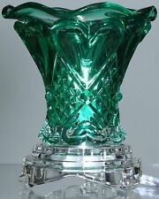 Teal Glass Electric Aroma Lamp Oil and Wax Tart Warmer with Dimmer -...