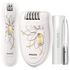 Philips Épilateur Electrique 2 Vitesses + Épilateur de Précision +Pinces Lumière