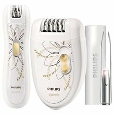 Philips Depiladora Electrica 2 Velocidades + Depiladora de Precisión +Pinzas Luz